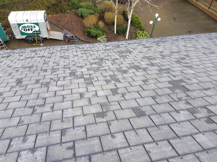MossOff - Commercial Building roof cleaning